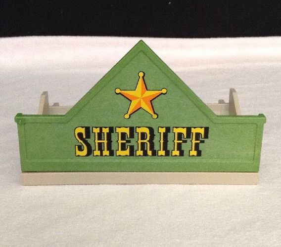 REPLACEMENT Playmobil 3786 Western Sheriffs Office Upper PORCH w/ SHERIFF SIGN  #PLAYMOBIL