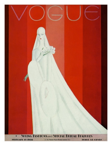 Vogue Cover - February 1928 Poster Print  by Eduardo Garcia Benito at the Condé Nast Collection