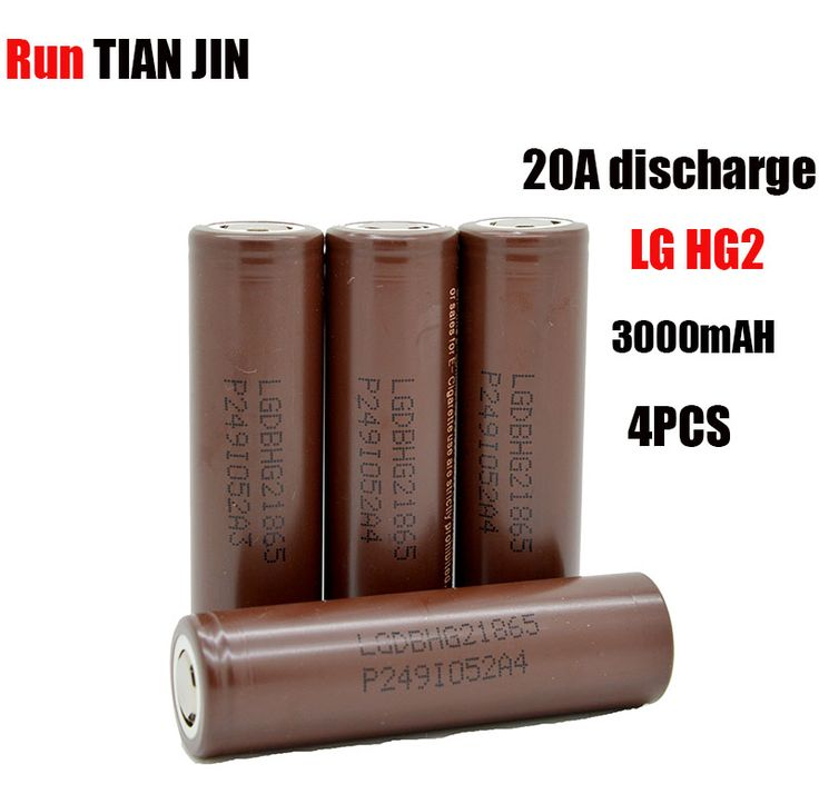 4pcs/lot lg hg2 18650 li-ion akku akku 3000 mah fr elektronische zigarette box mod vape #Affiliate