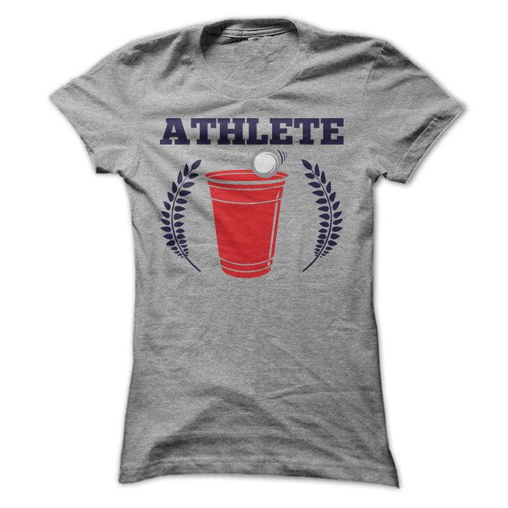 Athlete - Beer Pong. A fun drinking shirt for beer pong lovers. #beerpong