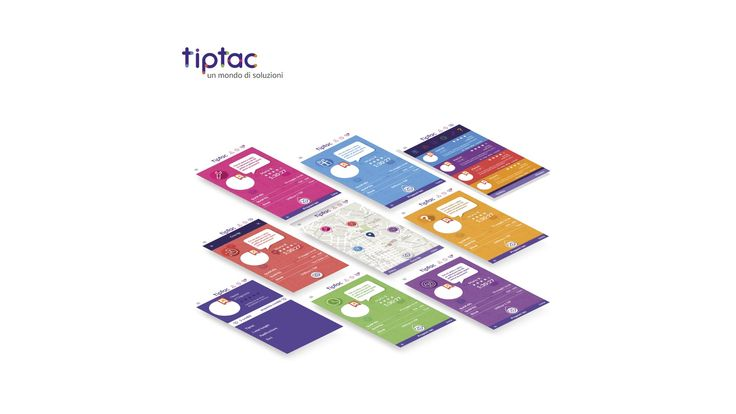 TipTac - #mockup by #ElevenDots   We made #prototypes of the application graphic #interface and a #brochure, that recalls the #minimalist #style of TipTac, has been created for its #promotion.