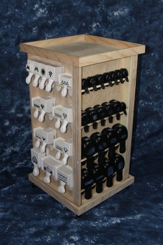 4p NEW Paper Punch Storage Organizer Rack for Stampin Up Martha Stewart Punches