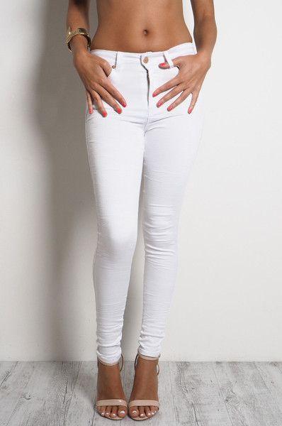 LIMITED EDITION White Highwaist 7/8 Gelato Legs // REFUGE DENIM