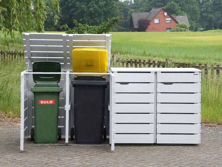 Mülltonnenbox Holz, auch verschiedene Mülltonnen - Größen möglich