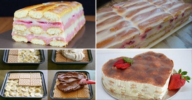 10 nejlepších receptů na jednoduché a rychlé nepečené dorty