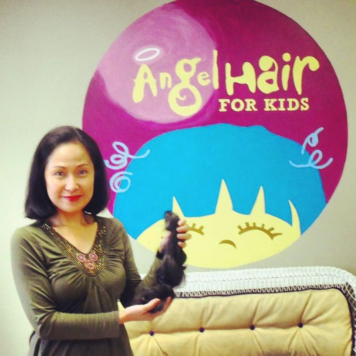 Thank you to Regina for not only donating an incredible 19 inches of hair to A Child's Voice Foundation's Angel Hair for Kids program -- she also raised enough funds to sponsor two Angel Hair for Kids children!  Thank you to Regina for her amazing charitable act of kindness.  #AngelHairforKids #hairdonation #donate #hair