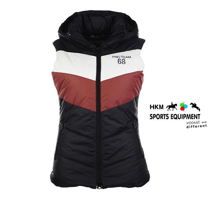 30€ Veste HKM Boston Surpique marine / magenta rouge