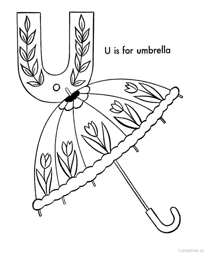 creation alphabet coloring pages - photo#39