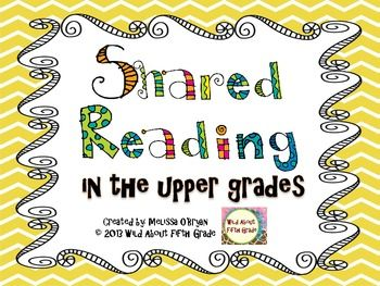 This FREE resource will walk you through how to do shared reading with your upper grades (3rd-6th) students for 10-15 minutes daily to build fluency and comprehension skills. All you have to do is find the weekly articles. Included in the resource is a 5-day instructional plan for both nonfiction and fiction articles.