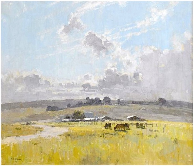 Theodore Penleigh Boyd (Australian)_Landscape with Cattle and Farm Buildings (photo by BoFransson, via Flickr)