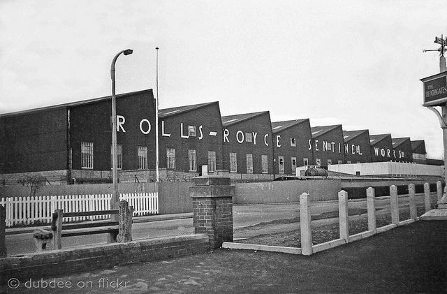 Rolls Royce Sentinel Works (on the site where  Morrisons supermarket now stands), Shrewsbury, Shropshire