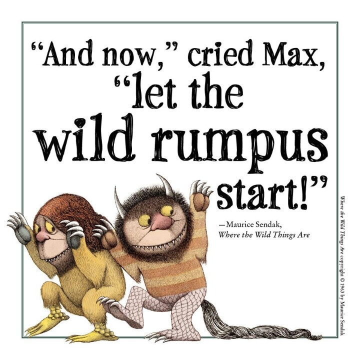 photograph regarding Let the Wild Rumpus Start Printable named Allow Rumpus Start off Offers of the Working day