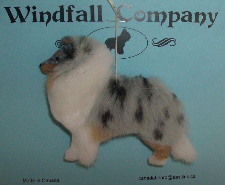 Blue Merle Shetland Sheepdog Sheltie Dog Plush Canine Christmas Ornament #2 in Sheltie/Shetland Sheepdog | eBay