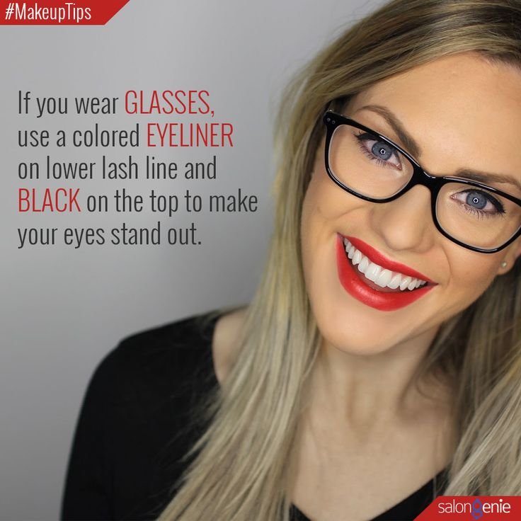 Shout out to all those who wear glasses! Here is a wee makeup tip for all those…