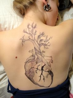 Anatomical Heart Tattoos / Heart Tree Tattoo