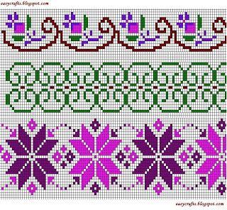 Easy Crafts - Explore your creativity: Cross Stitch Borders