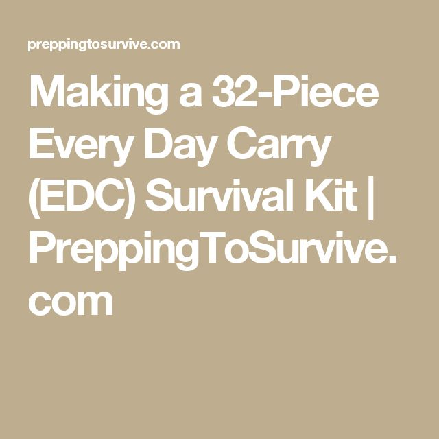 Making a 32-Piece Every Day Carry (EDC) Survival Kit | PreppingToSurvive.com