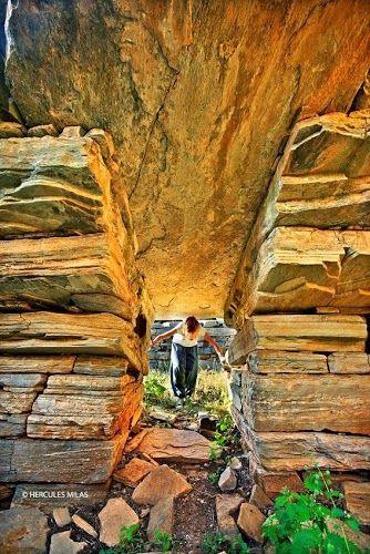 Entrance to Dragonhouse, Evia Greece