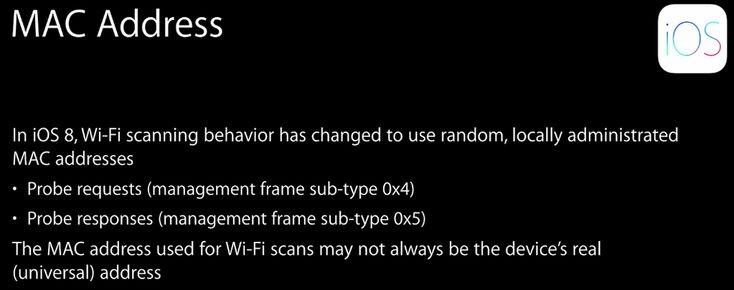 iOS 8 randomizes MAC address while scanning WiFi, blocks marketers tracking you