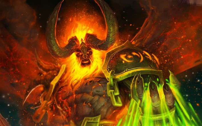 Download wallpapers World of Warcraft Legion, 4k, art, Shadows of Argus, WoW