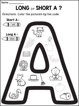 Long Vowels Worksheets: This Long Vowels product contains 5 worksheets that ask the kids to distinguish between the short and the long vowels A, E, I, O, U.The students will have to color the pictures on the   target vowel by the given code. Each worksheet is offered  in 2 versions so that you can use the one you like better:*a version that has only pictures*a version that has the printed words next to thepicturesHappy teaching!Danas WonderlandLong Vowels | Long Vowels resource | Long…