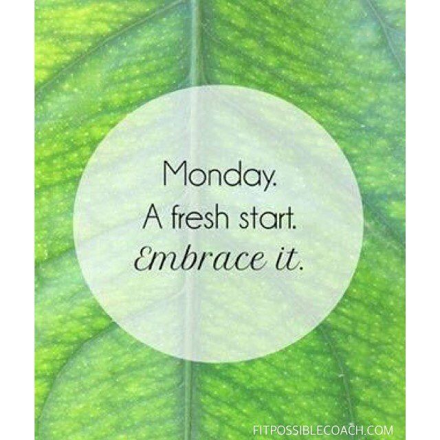 Time to make it happen! It's a new week! Forget last week. Forget the weekend. Forget the past in general and use today as a FRESH start. You can do anything, let your goals be bigger than your excuses!!  Ready, Set, Let's crush some goals!