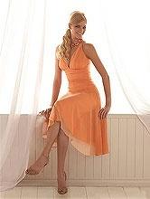 orange brides maid dresses