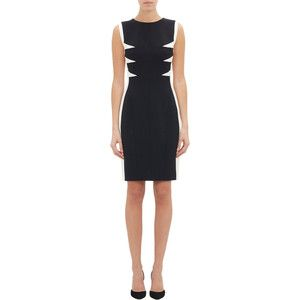 Narciso Rodriguez Colorblock Shift Dress