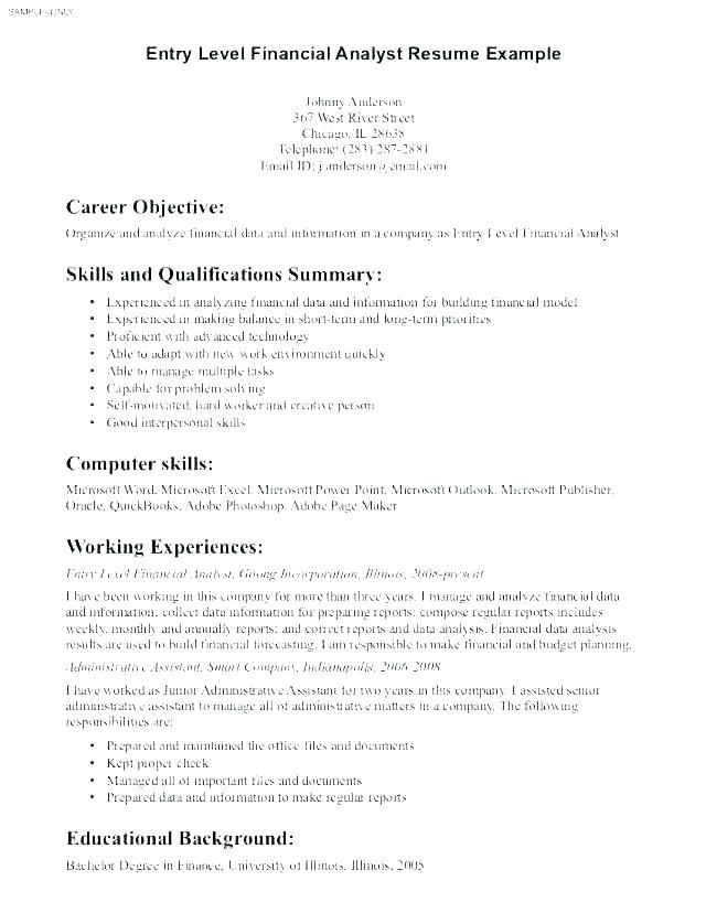 Resume For General Job General Job Objectives Samples Resume