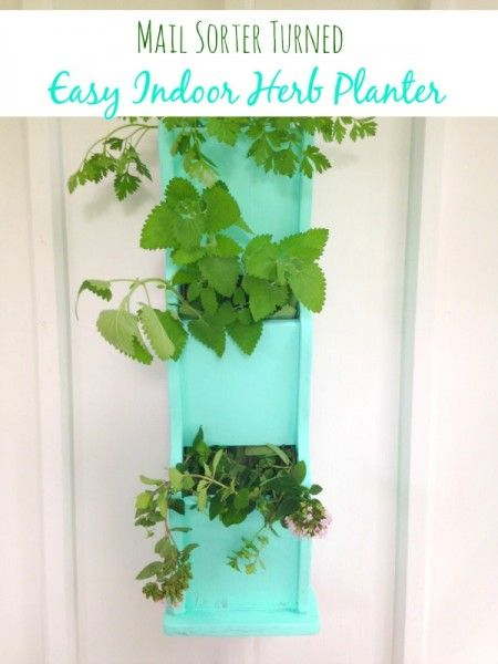 How to Make an Indoor Herb Planter from a Mail Sorter - Upcycle an old mail sorter and convert it into an indoor herb planter so you can grow herbs all year.