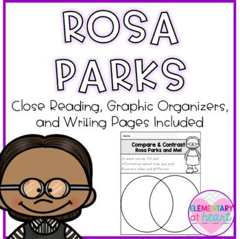 Rosa Parks was a courageous woman! This product will get your kiddos writing and making connections to Rosa Parks! This will make a great addition to your Rosa Parks Unit!! Included: - Rosa Parks KWL Chart - Rosa Parks Venn Diagram ( Rosa and Me!) - Rosa Parks Descriptions (graphic organizer) - Rosa Parks Information (graphic organizer) - Rosa Parks Facts (graphic organizer) - All About Rosa ( full writing page) - Why Was Rosa Parks a Hero? ( full writing page) - Rosa Parks- Timeline of…