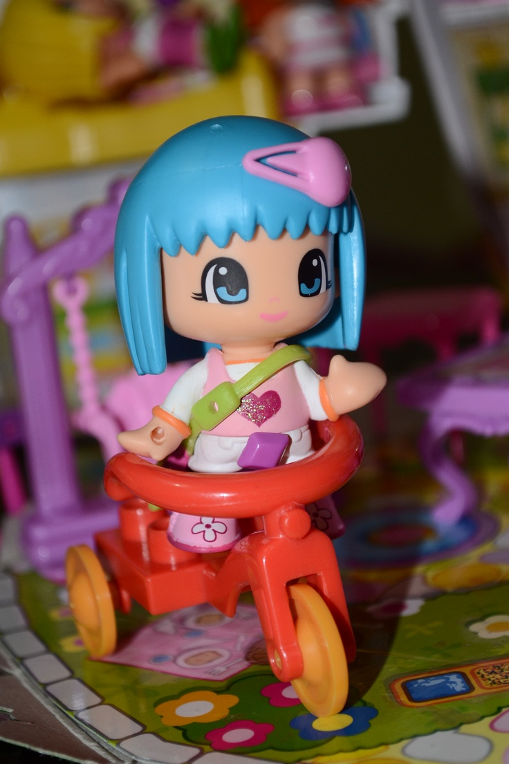 This is one of my daughter's pinypon doll. I like these cute little dolls.