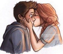 Inspiring image beautiful, couple, cute, draw, fanart, holland roden, kiss, live, love, lydia martin, stiles stilinski, teen wolf, stydia, dylan o&#39,brien #2609977 by Maria_D - Resolution 500x400px - Find the image to your taste