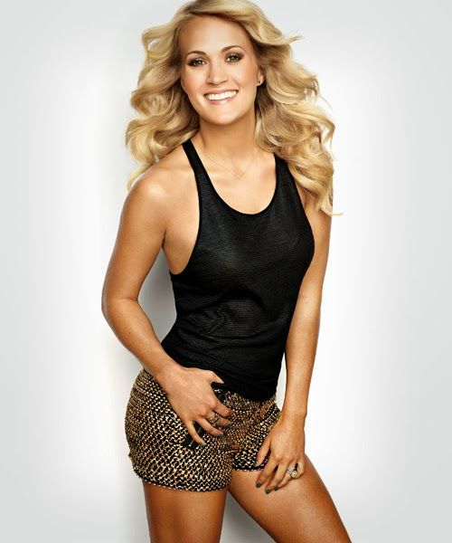 """Carrie Underwood for Women's Health 2013 Love those black & gold shorts!! This could also go be categorized as """"fitness inspiration"""""""