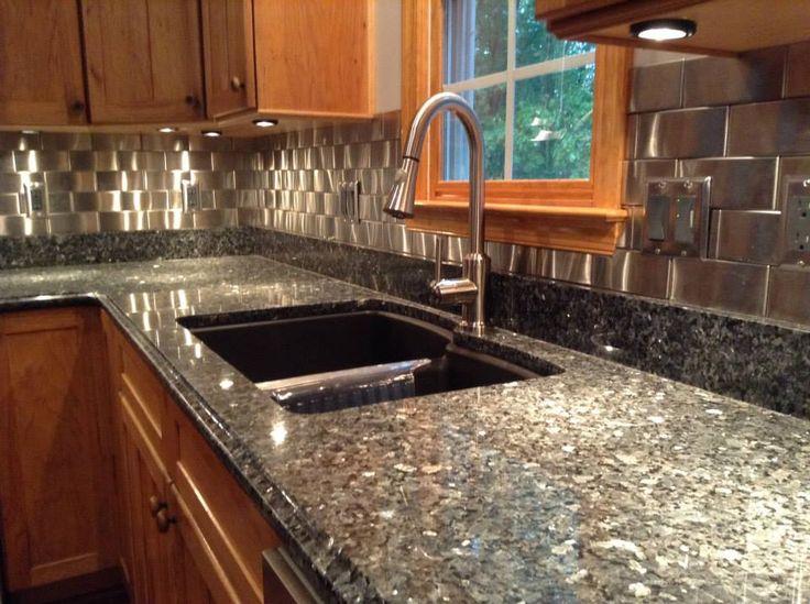 Stainless Steel Tile Backsplash | Modern Metal Tiles | Contemporary Kitchen  Design | Brick Pattern Woven