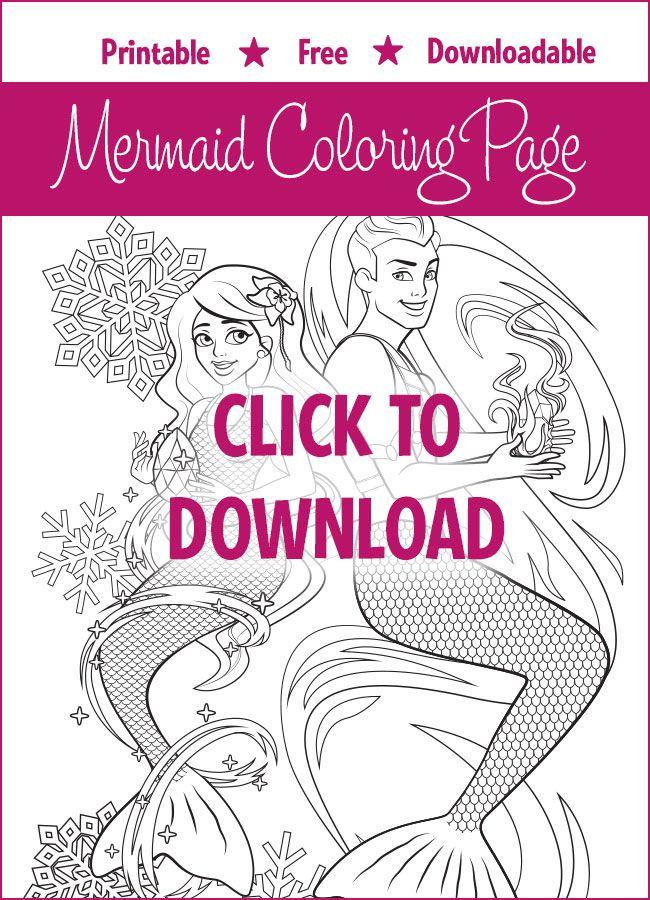8 besten Mermaid Coloring Pages Bilder auf Pinterest | Ausmalbilder ...