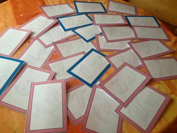 karty na psaní psací písmo