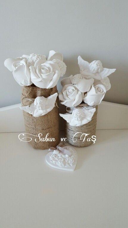 #Kokulutas#scentedclay#cicekbuketi#whiterose