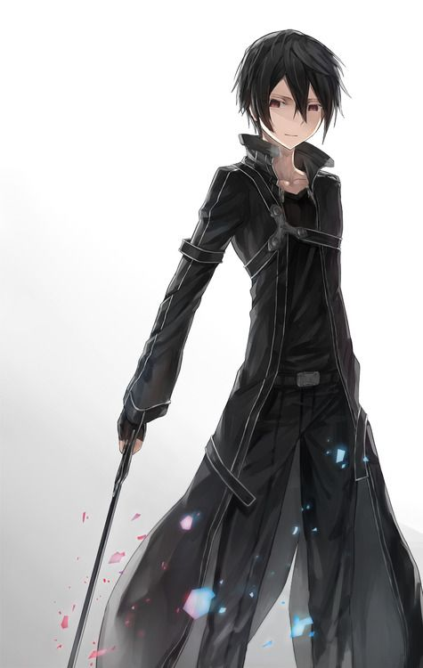 Kirito, from Sword Art Online, a Japanese anime. He is so awesome!