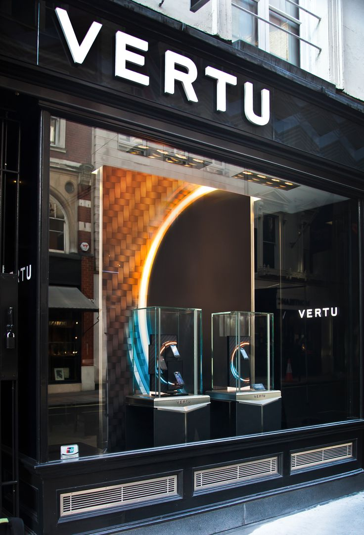 Vertu Constellation display with a stylishly futuristic backdrop by Elemental Design.