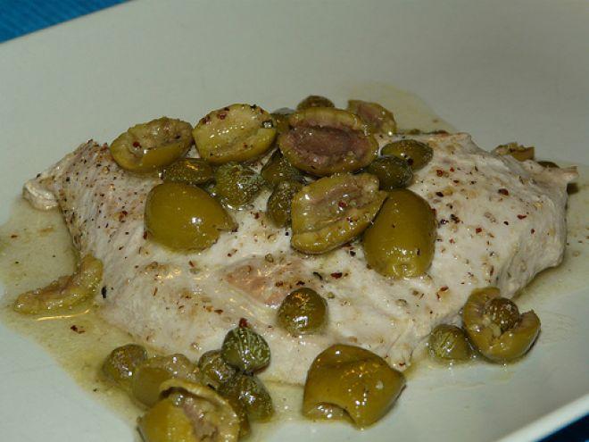 Ricetta Portata principale : Filetto di tonno alla olivetta (e capperi) da Saledolce