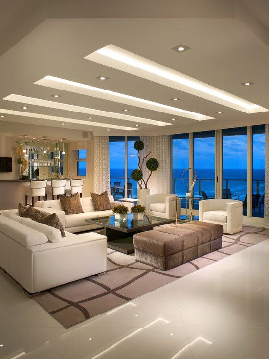 49 Inspiring Sculptural False Ceiling Designs To Pursue · Living Room ... Part 42