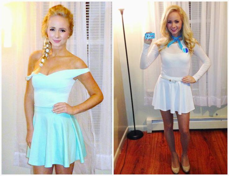 INSTAGRAM: @alexisschaufert - Easy halloween costumes for blondes.. Queen Elsa and the Orbit girl