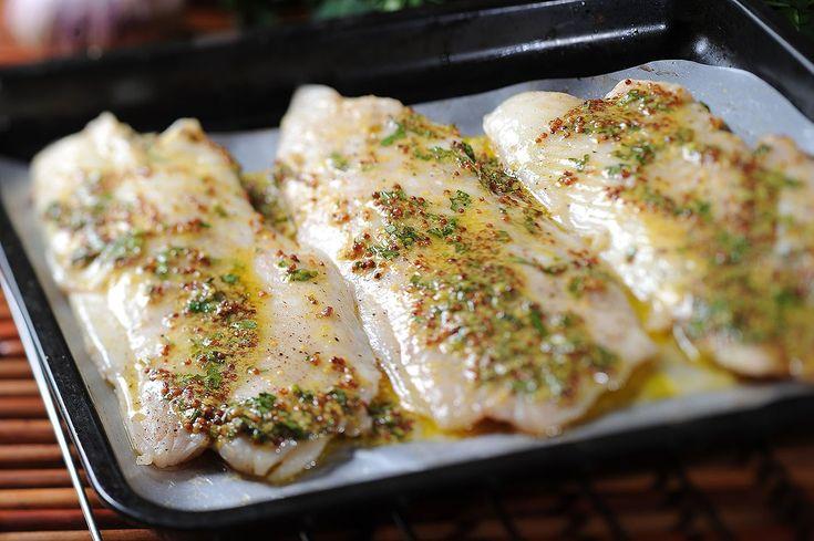 Filete de pescado al horno a la mostaza