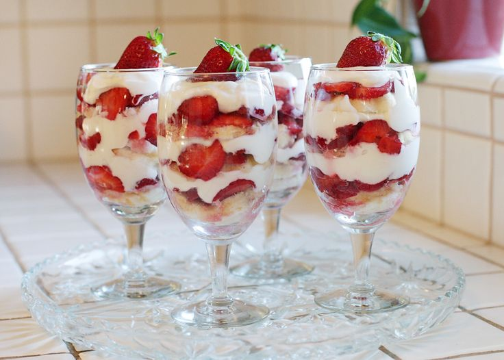 Skinny Strawberry Shortcake What you will need: 3 baskets of strawberries 1 32oz. greek yogurt 1 angel food cake agave nectar or honey 1/2 lemon or lemon juice vanilla extract 1-2 T powered sugar