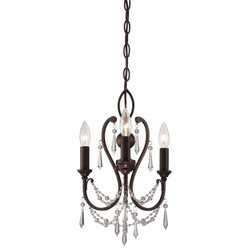 Minka Mini Chandeliers Vintage Bronze Mini-Chandelier at Destination Lighting
