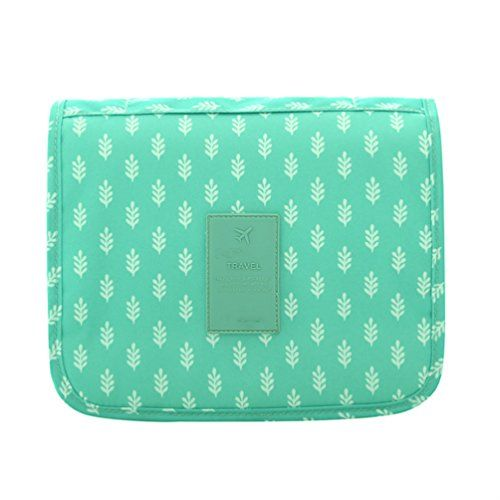 Itraveller Hanging Toiletry Bag-Portable Travel Organizer Cosmetic Make up Bag case for Women Men Shaving Kit with Hanging Hook for vacation (Green Leaves). For product & price info go to:  https://beautyworld.today/products/itraveller-hanging-toiletry-bag-portable-travel-organizer-cosmetic-make-up-bag-case-for-women-men-shaving-kit-with-hanging-hook-for-vacation-green-leaves/