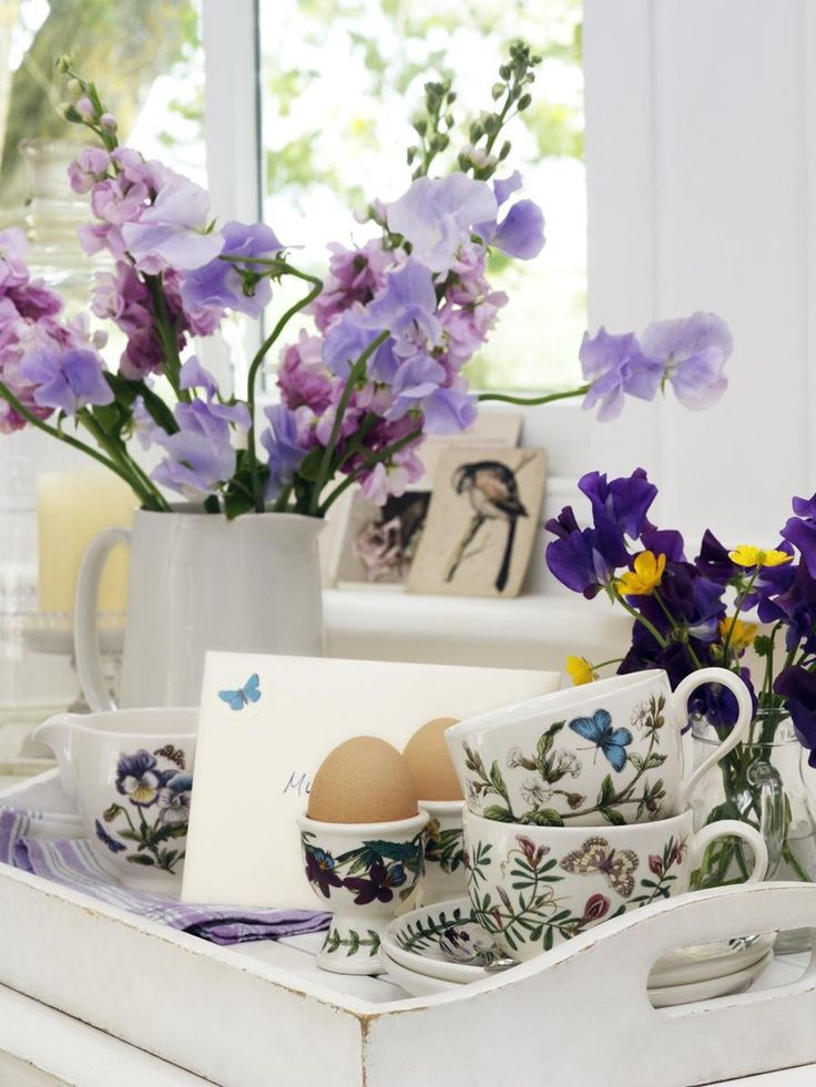 Portmeirion Botanic Garden Teacup Heartsease Traditional Shape -Portmeirion UK