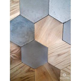Płytka dekoracyjna 3D Decopanel HEXAGON drewno dębowe