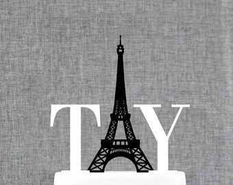 eiffel tower cake topper – Etsy